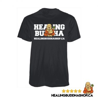healing buddha shop black t-shirt