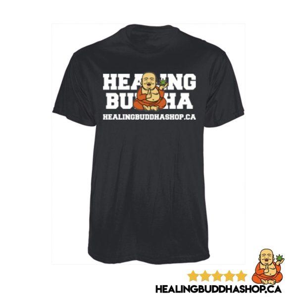 healing buddha shop black t-shirt