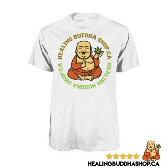 healing buddha shop white t-shirt